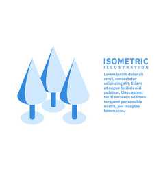 forest icon isometric template for web design vector image