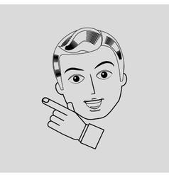 gentleman avatar design vector image