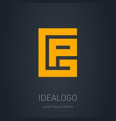 Gp - initials or logo g and p - design element vector
