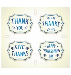 Gratitude ceramics Gzhel badge vector