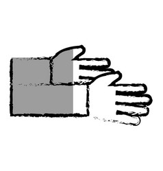 Hands human isolated icon vector