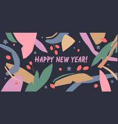 happy new year a composition with abstract vector image