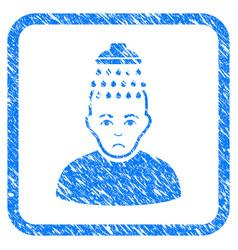 Head shower framed stamp vector
