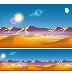 Hot desert in daytime vector