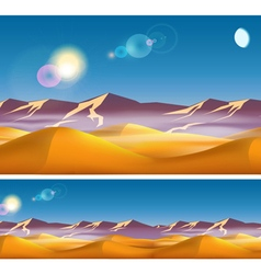 Hot desert in the daytime vector