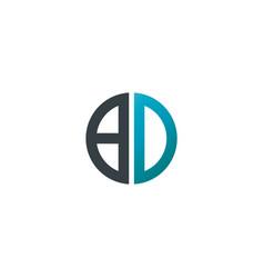 initial letter bd creative design logo vector image