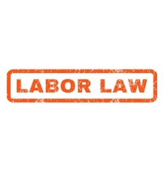 Labor Law Rubber Stamp vector image