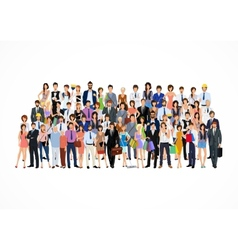 Large group people vector