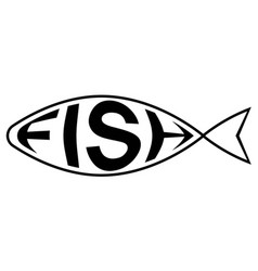 logo is fish shop with text fish inside vector image