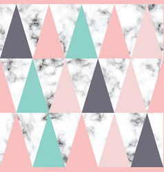 Marble texture design with triangles vector