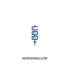 Marshmallow concept 2 colored icon simple line vector