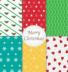 Merry Christmas Pattern Background Collection vector