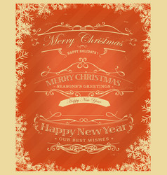 Merry christmas retro background vector