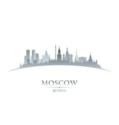 Moscow Russia city skyline silhouette vector