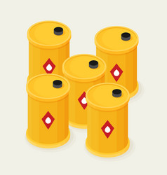 Oil barrels isometric icon vector