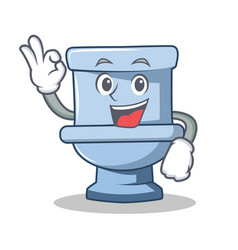 Okay toilet character cartoon style vector