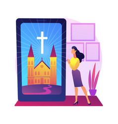online church abstract concept vector image
