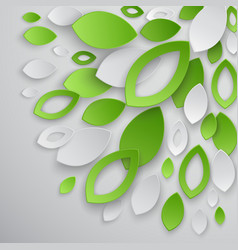 paper leaves5 vector image