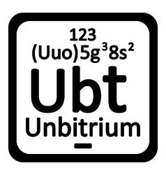Periodic table element unbitrium icon vector image