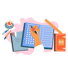 Planner or organizer book or diary put down notes vector
