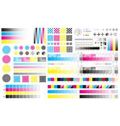 Printing cmyk marks offset print calibration vector