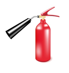 Red metal fire extinguisher vector