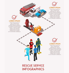 Rescue service infograhics vector