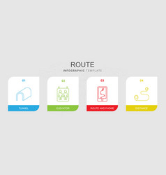 route icons vector image