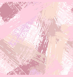 Seamless pattern with pastel pink brush strokes vector