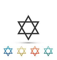 Star of david icon jewish religion symbol vector