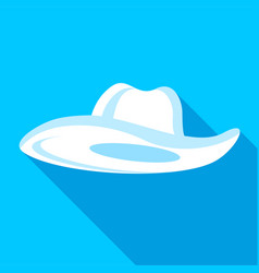 Summer hat icon flat style vector