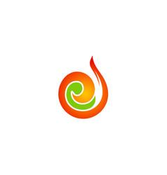 Swirl absract art logo vector
