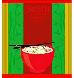 template of asian food menu vector image
