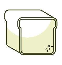 toast bread isolated icon vector image