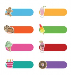 treats tabs vector image