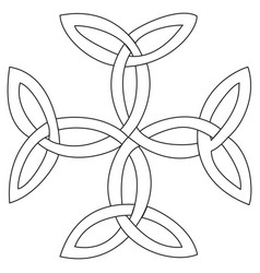 Triquetras cross symbol vector
