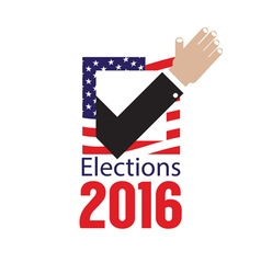 USA Elections Vote 2016 Concept vector image