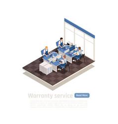 Warranty service isometric vector