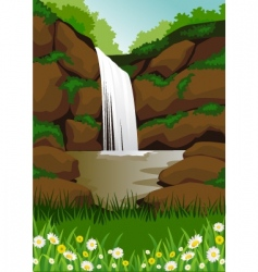 waterfall vector image