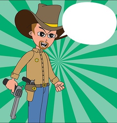 Wild west cartoon vector