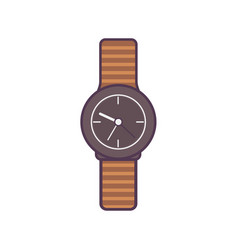 wristwatch isolated on vector image