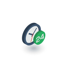 24 hour around the clock day and night isometric vector image