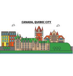 canada quebec city city skyline architecture vector image