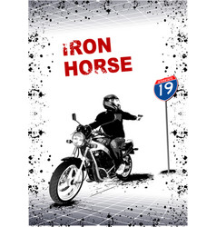 gray background with motorcycle image vector image vector image