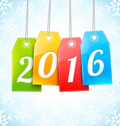 Happy New 2016 Year Greetings Card vector image vector image