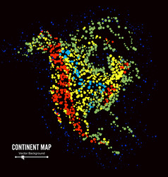 north america continent map abstract background vector image