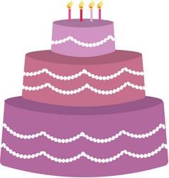purple birhday cake vector image