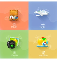 Travel concepts set vector image vector image