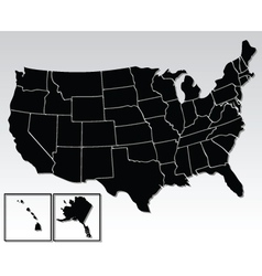 american map vector image