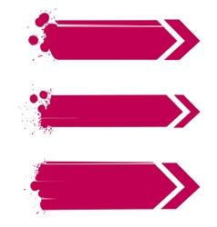 arrows set grunge vector image vector image